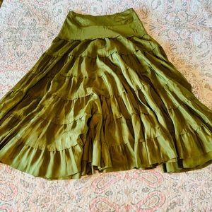 Anthropologie Fei Silk Skirt